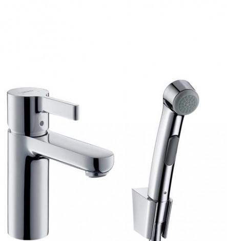 Hansgrohe Metris S - Umyvadlová baterie s ruční sprchou Bidette, chrom 31160000