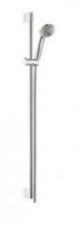 """Hansgrohe Crometta 85 - Sprchová souprava Multi 3jet/nástěnná tyč Unica\""""Crometta 0,90 m, chrom 27766000"""