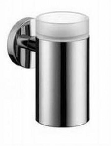 Hansgrohe Logis - Nádobka pro ústní hygienu skleněná, chrom 40518000