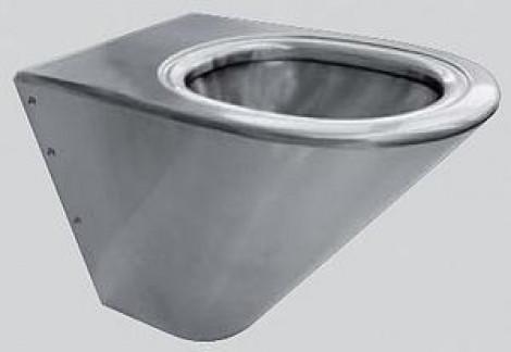 AQUA SENZOR - Závěsné WC (4,5l) nerezová ocel + šedé sedátko CMPX592G
