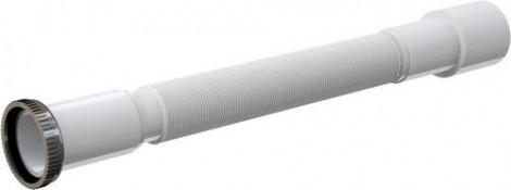 "ALCA PLAST - Flexi pripojenie 6/4\""x40/50 dĺžka 40-85 cm matica kov biele A78"