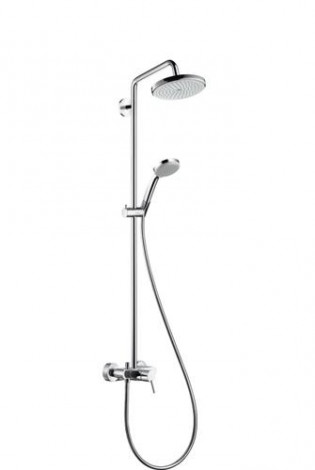 Hansgrohe Croma 220 - Sprchový set Showerpipe 220 s baterií, 1 proud, chrom 27222000