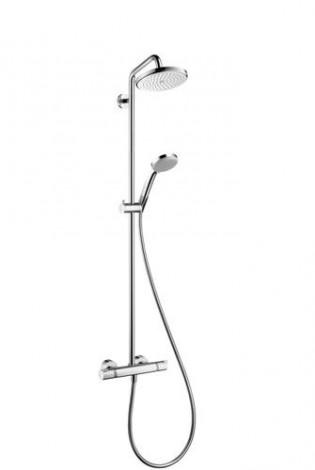 Hansgrohe Croma 220 - Sprchový set Showerpipe 220 s termostatem, EcoSmart 9 l/min, chrom 27188000