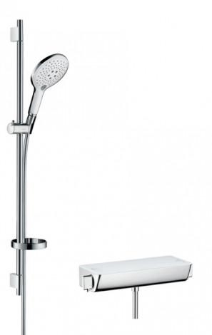 Hansgrohe Raindance Select S - Sprchový set s termostatem, 150 mm, 3 proudy, bílá/chrom 27037400