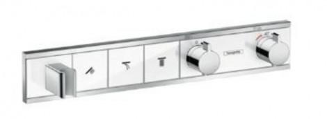 HANSGROHE RainSelect - vrchní sada pod omítku na 3 spotřebiče, bílá / chrom 15356400