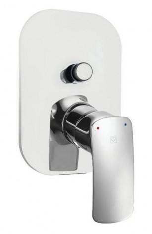 HERZ ELITE vrchní rozeta pro podomítkovou baterii pro vanu a sprchu chrom UH12247
