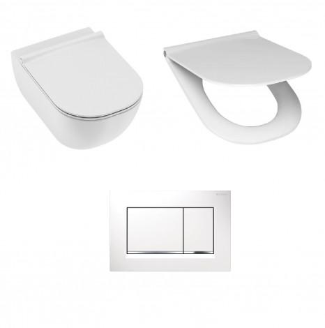 WC set Jika Mio H8207140000001 + sedátko H8917110000631 a wc tlačítko 115.883.KJ.1