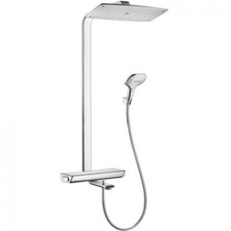 Hansgrohe Raindance Select - Termostatická vanová baterie Showerpipe 360 s příslušenstvím, bílá/chrom 27113400