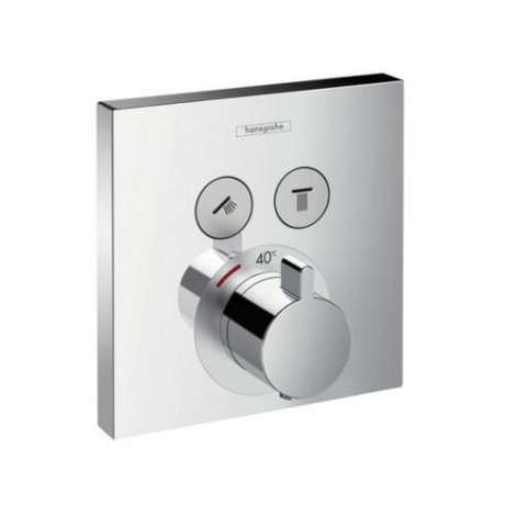 HANSGROHE Shower Select - Termostatat pod omítku - vrchní sada (pro 2 spotřebiče), chrom 15763000