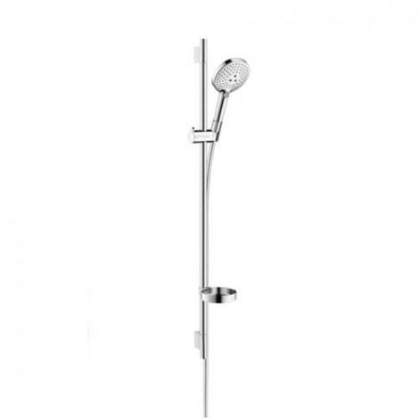 Hansgrohe Raindance Select S - Sprchová souprava 120, 3 proudy, EcoSmart 9 l/min, bílá/chrom 26633400