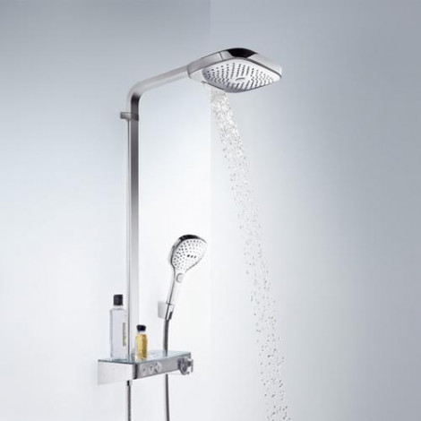 Hansgrohe Raindance Select E - Sprchový set Showerpipe 300 s termostatem ShowerTablet Select, 3 proudy, chrom 27127000