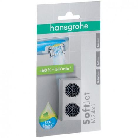 Hansgrohe Příslušenství - Perlátor SoftJet M24 x 1 s omezovačem průtoku na 5 l/min, chrom 13182000