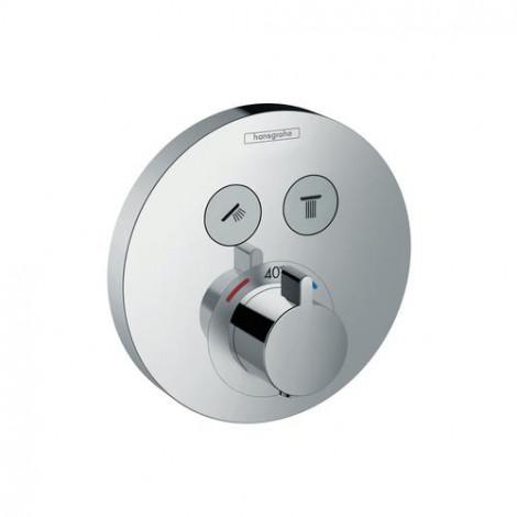 HANSGROHE Shower Select - Termostatická baterie pod omítku pro 2 spotřebiče, chrom 15743000