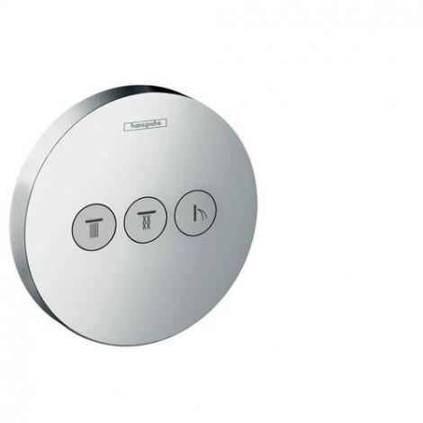 HANSGROHE Shower Select S podomítkový ventil pro 3 spotřebiče, chrom 15745000