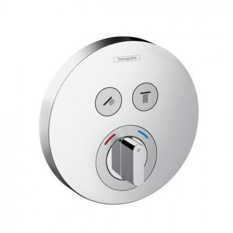 HANSGROHE Shower Select S - Podomítková baterie pro 2 spotřebiče, chrom 15748000
