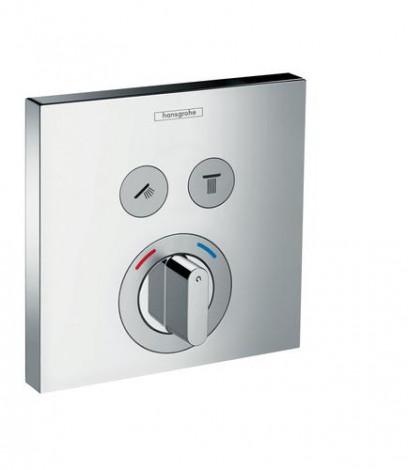 HANSGROHE Shower Select - podomítková baterie pro 2 spotřebiče, chrom 15768000