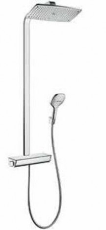 Hansgrohe Raindance Select E - Sprchový set Showerpipe 360 s termostatem, EcoSmart 9 l/min, bílá/chrom 27286400