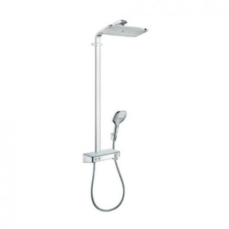 Hansgrohe Raindance Select E - Sprchový set Showerpipe 360 s termostatem ShowerTablet Select 300, bílá/chrom 27288400