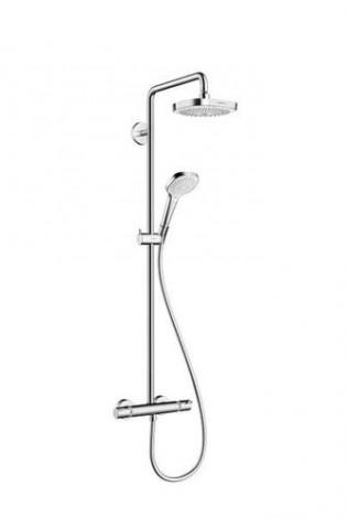 HANSGROHE Raindance Select E 180 2-jet Showerpipe - Sprchová souprava, chrom 27256400