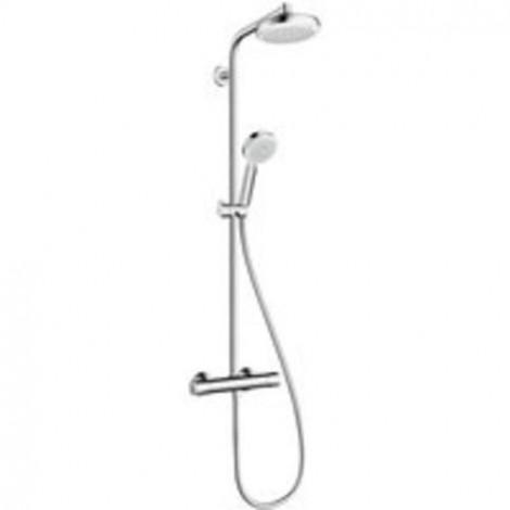 HANSGROHE Crometta 160 1jet Showerpipe - Term. sprchová sada 0,65m, hlavice 160 mm, chrom 27264400