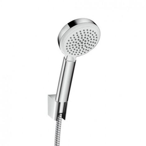 HANSGROHE Crometta 100 Vario, sada ruční sprchy s držákem a hadicí 1,25m, bílá / chrom