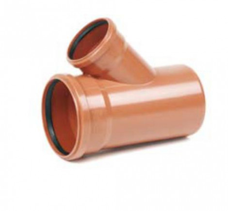 REHAU - Odbočka KGEA PVC 125/125/45° 170000