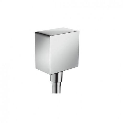 HANSGROHE Fixfit Square - Přípoj hadice se zpětným ventilem a plastovým připojením, chrom 2645500