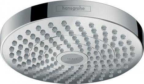 Hansgrohe Croma Select S - Horní sprcha 180 2jet, bílá/chrom 26522400