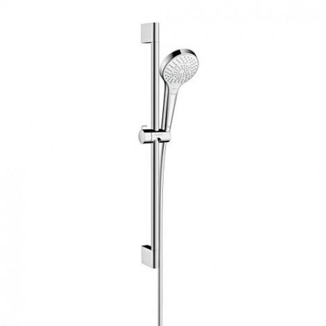 Hansgrohe Croma Select S - Sprchová souprava Multi EcoSmart 9 l/min 0,65 m, bílá/chrom 26561400