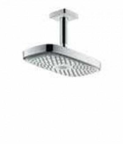 Hansgrohe Raindance Select E - Horní sprcha 300 2jet s přívodem od stropu 100 mm, EcoSmart, bílá/chrom 26608400