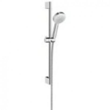 Hansgrohe Crometta 100 - Sprchová souprava Multi, 3 proudy, sprchová tyč 900 mm, bílá/chrom 26656400