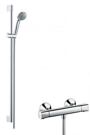 Hansgrohe Crometta 85 - Sprchový set Vario s termostatem, sprchová tyč 900 mm, chrom 27080000