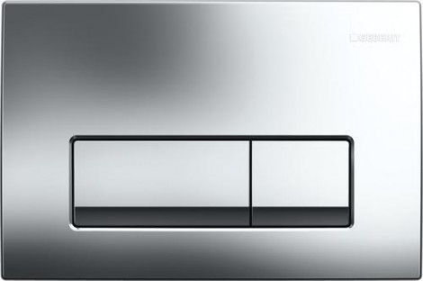 GEBERIT Delta 51 - Ovládací tlačítko, 2-M, lesklý chrom 115.105.21.1
