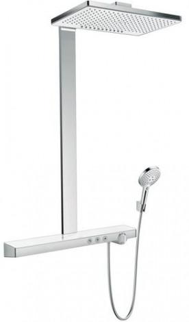 Hansgrohe Rainmaker Select - Sprchový set Showerpipe 460 s termostatem, 2 proudy, bílá/chrom 27109400