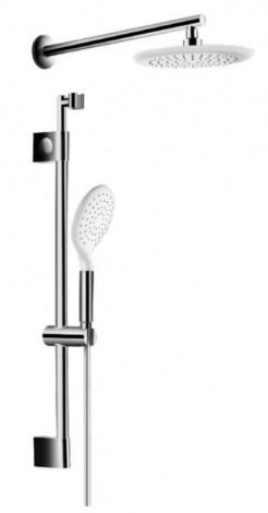 HERZ Smart - Sprchový systém (hlavová sprcha, ruční, hadice, tyč) bílá / chrom UH12552