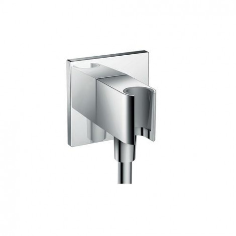 HANSGROHE Fixfit Porter Square - Roh. přípoj s pevným držákem se zpětným ventilem, chrom 26486000