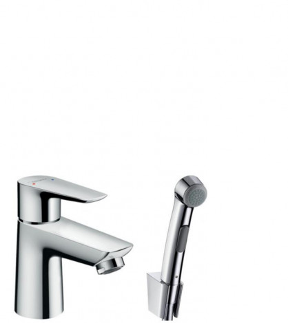 Hansgrohe Talis E - Umyvadlová baterie s ruční sprchou Bidette, chrom 71729000