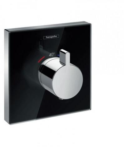 Hansgrohe Shower Select Glass - Termostatická sprchová baterie HighFlow pod omítku, černá/chrom 15734600
