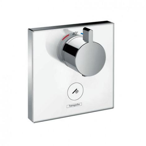 Hansgrohe Shower Select Glass - Highflow termostat pod omítku pro 1 spotřebič a jeden dodatečný vývod, chrom 15735400