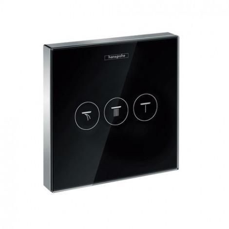 Hansgrohe Shower Select - Podomítkový ventil pro 3 spotřebiče, černá/chrom 15736600