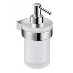 JIKA Pure - Držák se skleněným dávkovačem tekutého mýdla, chrom H3833B20041001