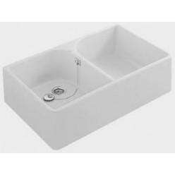 Villeroy & Boch - O.NOVO dvojdřez 89,5x55 bez otvoru bílý CeramicPlus VB 633200R1