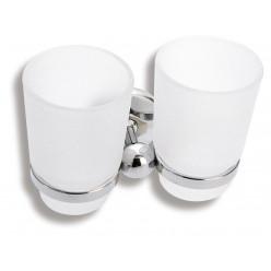 Novaservis Metalia 1 - Dvojitý držák se sklenkami, chrom/sklo 6157,0