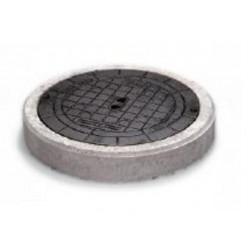 REHAU - Poklop 400 B125kN liatinový s betón. prstencom G 175633