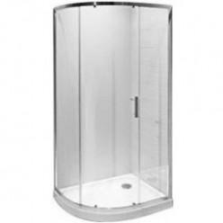 JIKA Tigo - Asymetrický sprchový kout 980x780 mm, stříbrná/sklo arctic H2512110026661