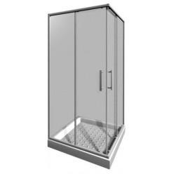 JIKA Lyra plus - Sprchový kout 880-900x880-900 mm, bílá/čiré sklo H2513820006681