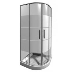 JIKA Lyra plus - Sprchový kout 900x900 mm, Jika Perla Glass, bílá/sklo Stripy Glass H2533820006651