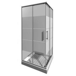 JIKA Lyra plus - Sprchový kout 780-800x780-800 mm, bílá/čiré sklo H2513810006651