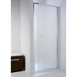 JIKA Cubito Pure - Sprchové dveře 900 L/P, sklo dekor arctic, stříbrná lesklá H2542420026661