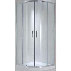 JIKA Cubito Pure - Sprchový kout čtvrtkruhový 880-898x880-898 mm, stříbrná/arctic sklo H2532420026661